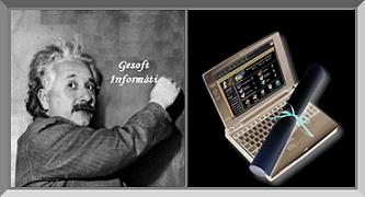 A imagem mostra o grande Einstein dando aula em um quadro negro
