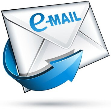 The picture shows a figure symbolizing an email